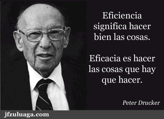 Peter Drucker Eficiencia Significa Hacer Bien Las Cosas
