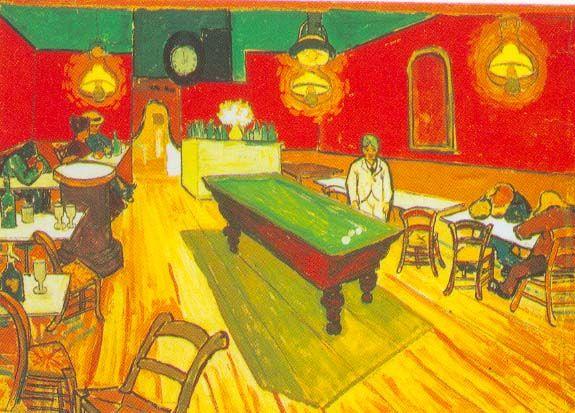 Vincent Van Gogh s painting of the interior of the Cafe Terrace on the  Place Du Forum. 1888 Vincent Van Gogh Le Caf  de nuit  place Lamartine   Arles