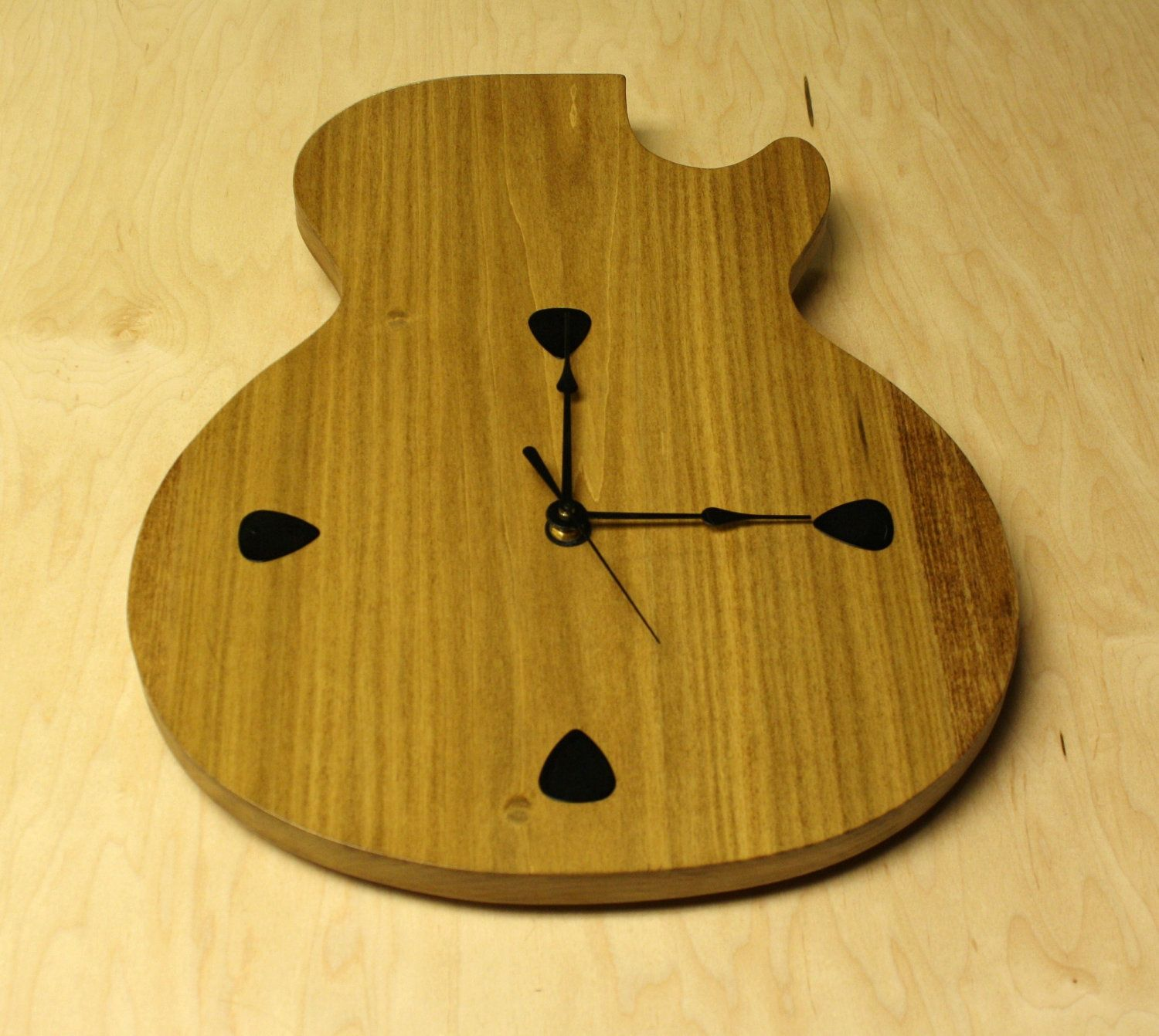 Guitar Wall Clock Image collections - home design wall stickers