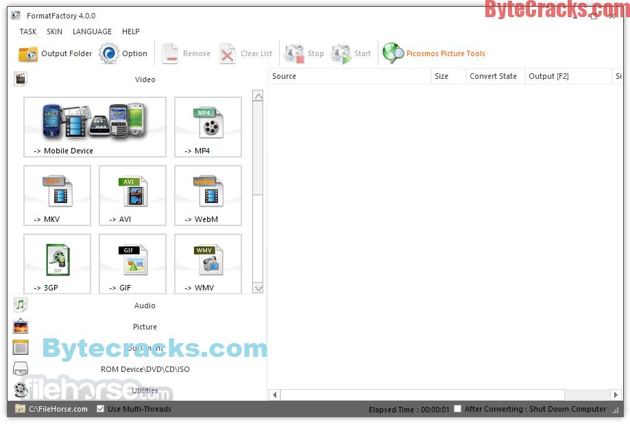 Format Factory 4 2 0 0 crack activation key free download