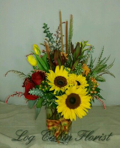 One Of The Beautiful Fall Arrangements Available At Log Cabin Florist  Bakersfield California
