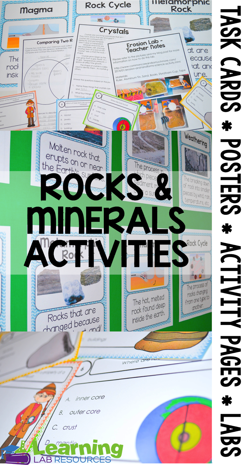Workbooks rocks and minerals worksheets 3rd grade : Rocks and Minerals Activities and Anchor Chart | Anchor charts ...