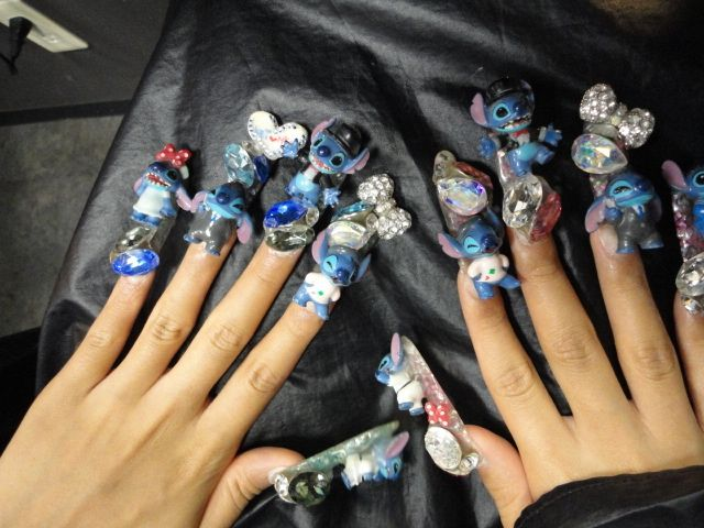 Omg stitch nails !!! So cool but how do you do anything with them