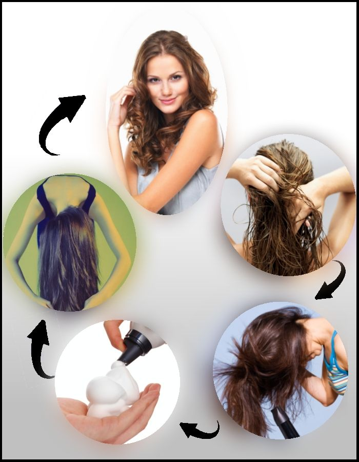 Genius Hairstyle Hacks How To Make Your Hair Curly Hair Style - Scrunch hair hair styling tips