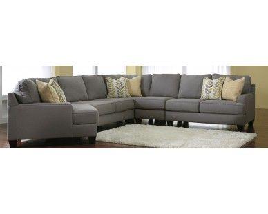 Grey 4 Piece Sectional Sam Levitz Furniture Living Room Pinterest Living Rooms Showroom