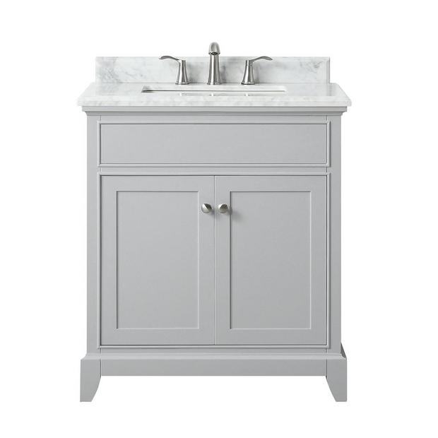 Aurora 31 In Vanity With Carrara Marble Top In 2020 Single Bathroom Vanity Vanity Bathroom