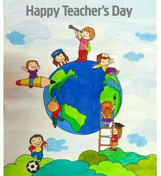 Happy Teachers Day 5 September Painting Teacher Happy Teachers Day Teachers Day