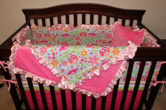Deluxe Chevron and Dot Owls Crib Bedding by DesignsbyChristyS, $335.00