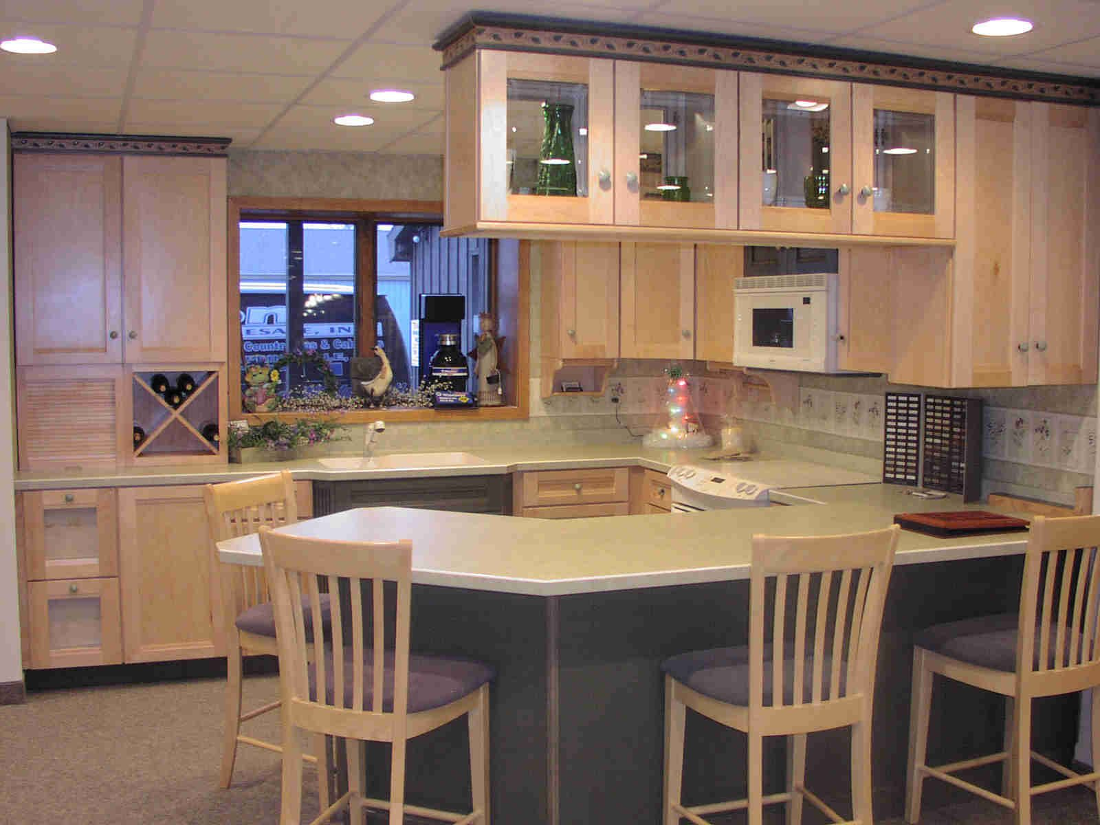 hanging kitchen cabinets large white island from ceiling cabinet maid u shape layout