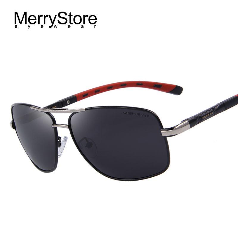 ebf2cfed26 Encontrar Más Gafas de Sol Información acerca de Merry's hombres de  aluminio gafas de sol polarizadas EMI lente recubrimiento defender Classic  marca de ...