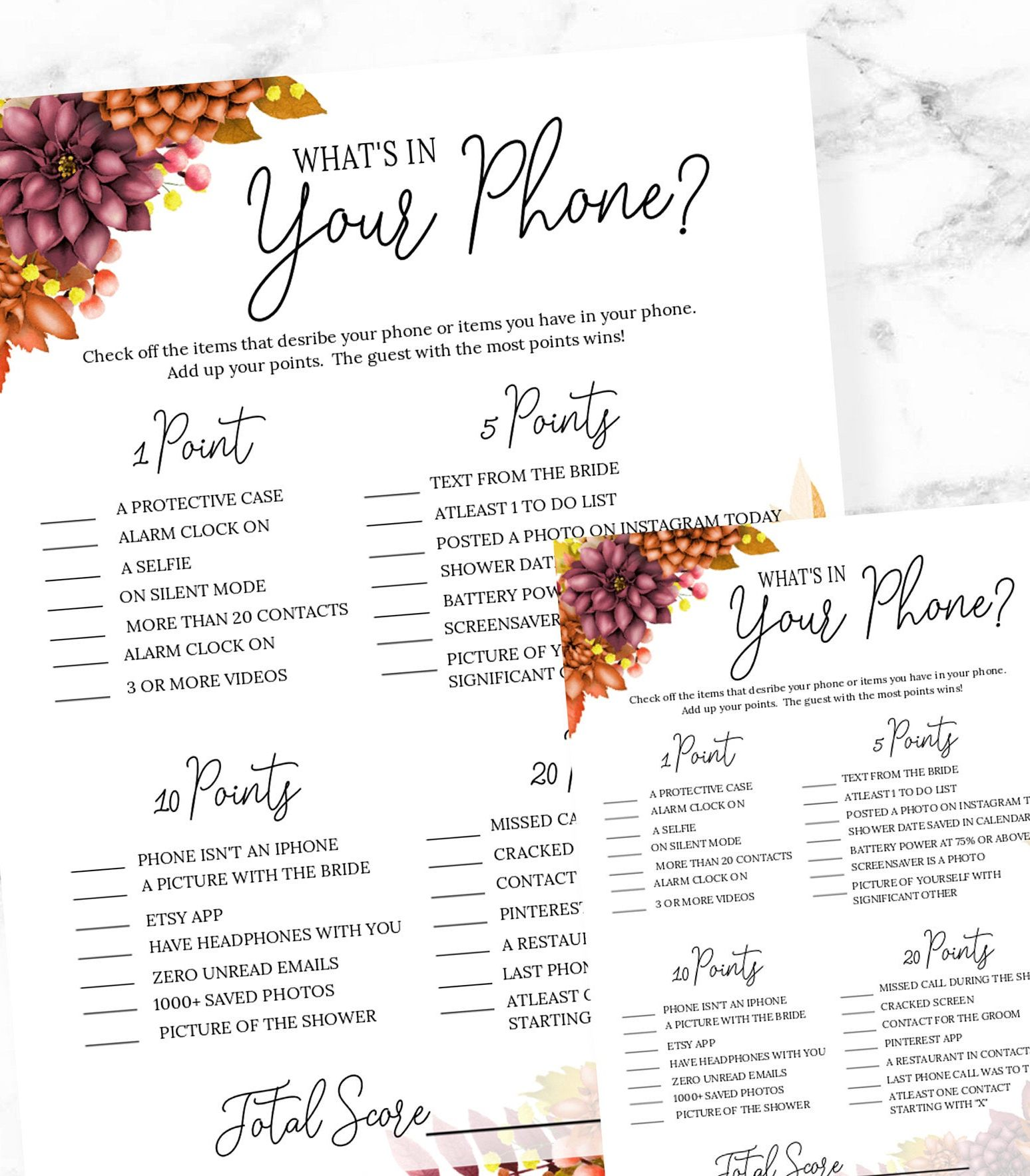 37+ Whats on your phone game bridal shower collection