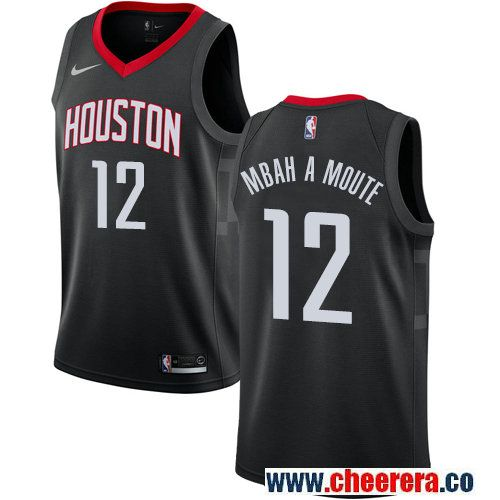Houston Rockets #12 Luc Mbah a Moute Black Nike NBA Men's Stitched Swingman  Jersey