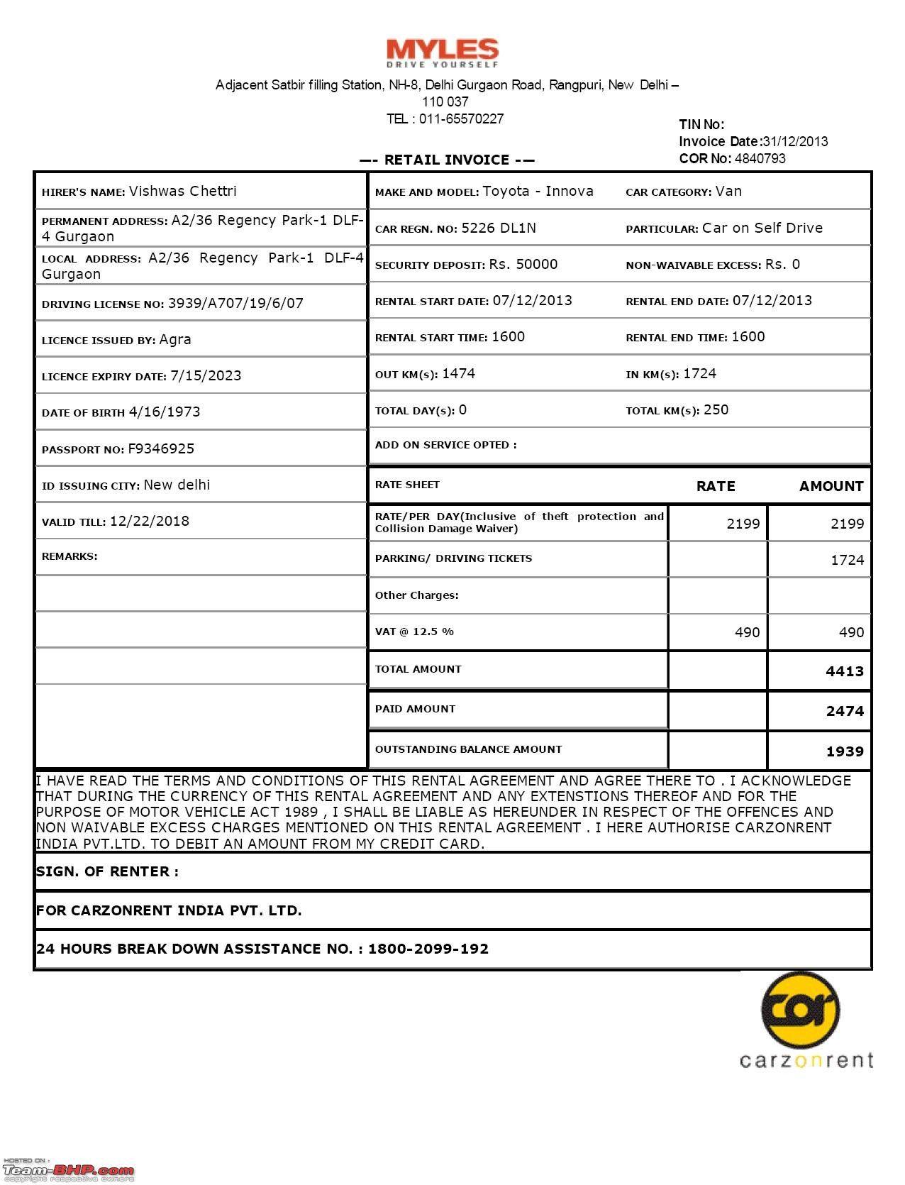 Car Rental Receipt Template In 2021 Invoice Template Receipt Template Invoice Template Word