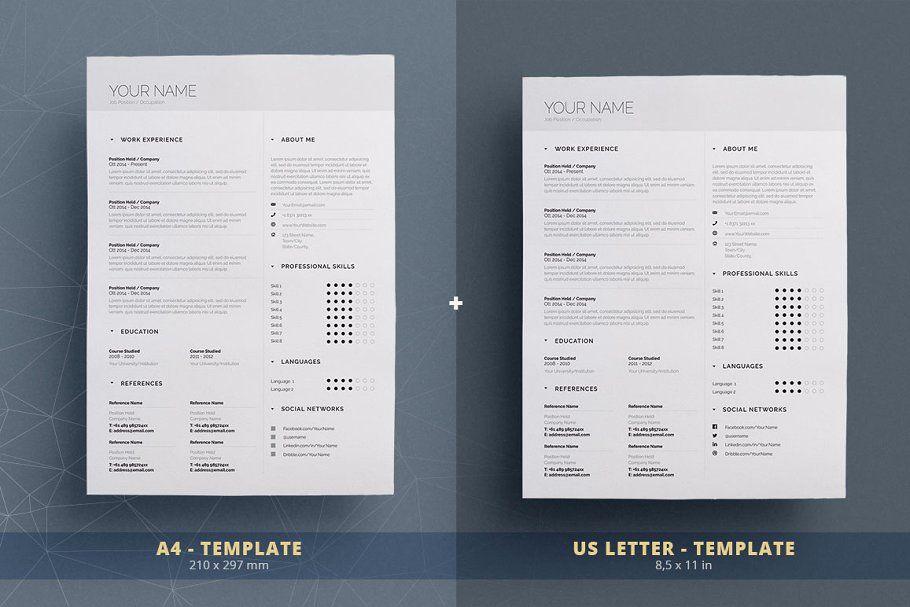 Simple Resume Cv Template Volume 5 Simple Resume Cv Template Creative Resume Templates
