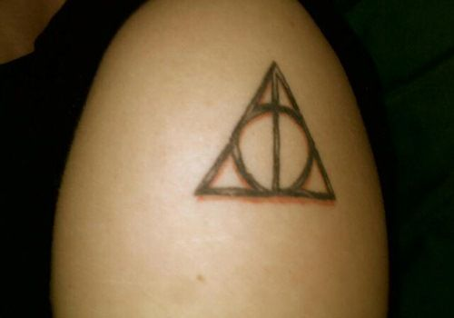 Deathly Hallows Tattoo Bare Tattoos Pinterest Deathly Hallows