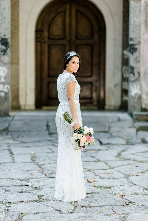 adrianna papell white dress. side braide. bridal hairstyle ...