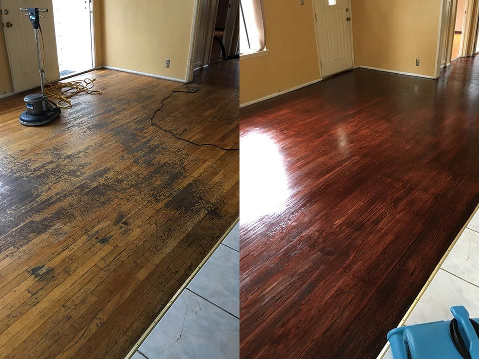 Hardwood Floor Refinishing Before And After Refinishing