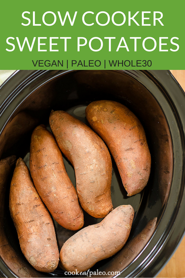 How To Bake Sweet Potatoes In A Crock Pot Recipe Crock Pot Sweet Potatoes Cooking Sweet Potatoes Recipes