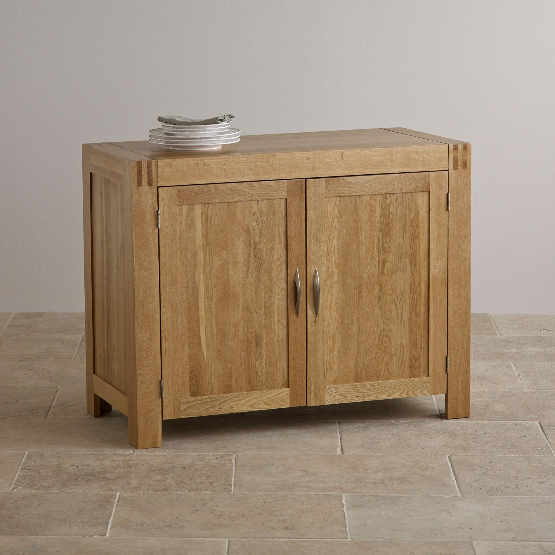 Oak Furniture Land Bevel Natural Solid Oak 2 Drawer Bedside Table