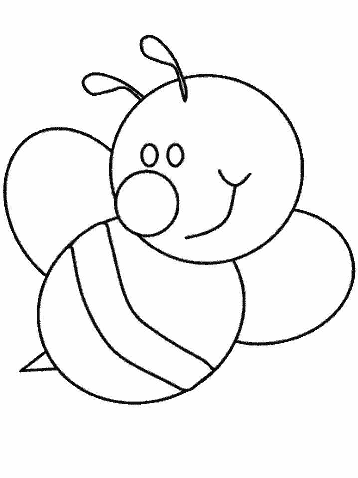 Bee Coloring Pages Preschool And Kindergarten Bee Coloring Pages Animal Coloring Pages Bee Template