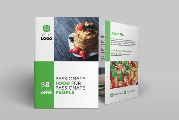 Fast Food BiFold Brochure By Creatricks On Creativemarket