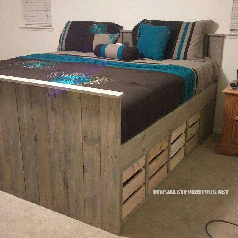Bett Paletten Fresh Paletten Bett Mit Schubladenmobel Aus