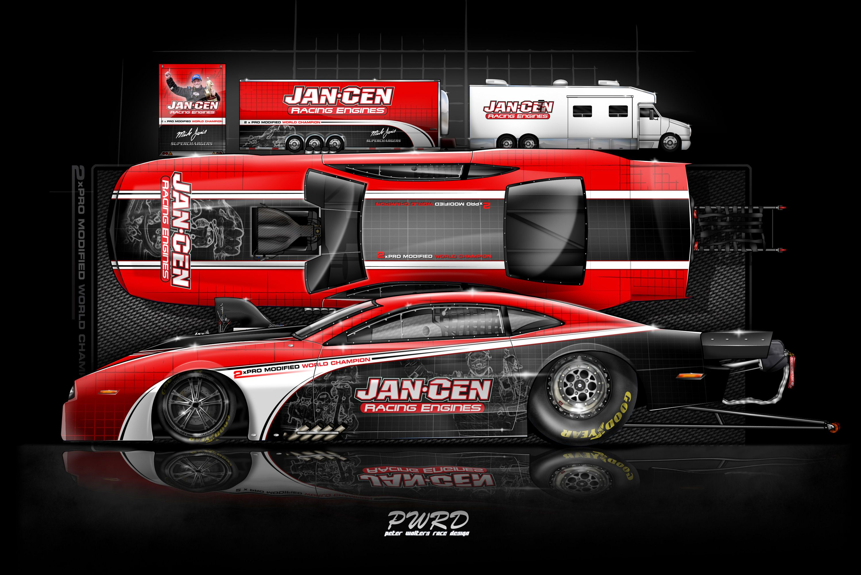 You are looking at latest design for the JanCen Racing