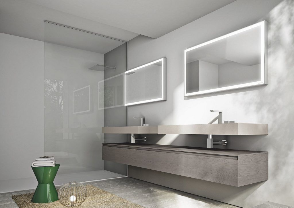 Photo of Frameless Bathroom with Backlight Design — TERACEE