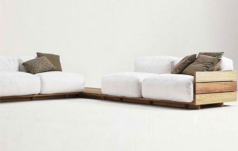 Innovative Piece: The Pallet Sofa By Piero Lissoni For Matteograssi