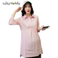 4af04ca81 Rayas de la moda Blusas de Maternidad para Las Mujeres Embarazadas ...
