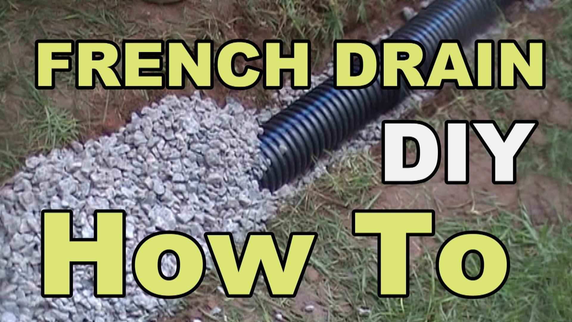 French Drain For Do It Yourself Homeowners How To Install