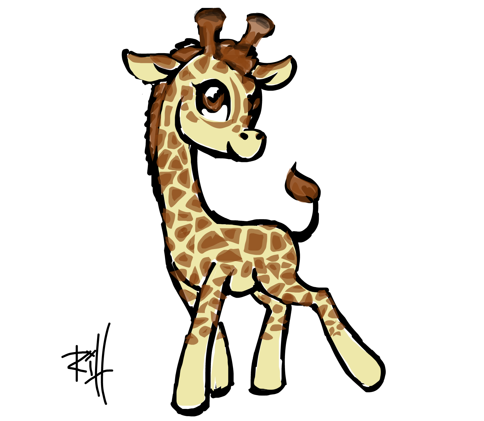 Drawings of cute giraffes for Giraffe draw something