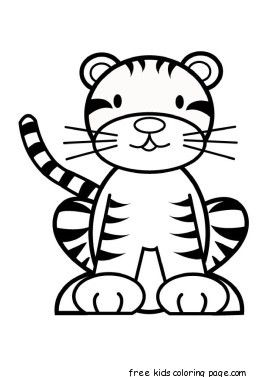 Printable Baby Tiger Coloring Pages For Kids Kids Printable Coloring Pages Tiger Crafts Animal Coloring Pages