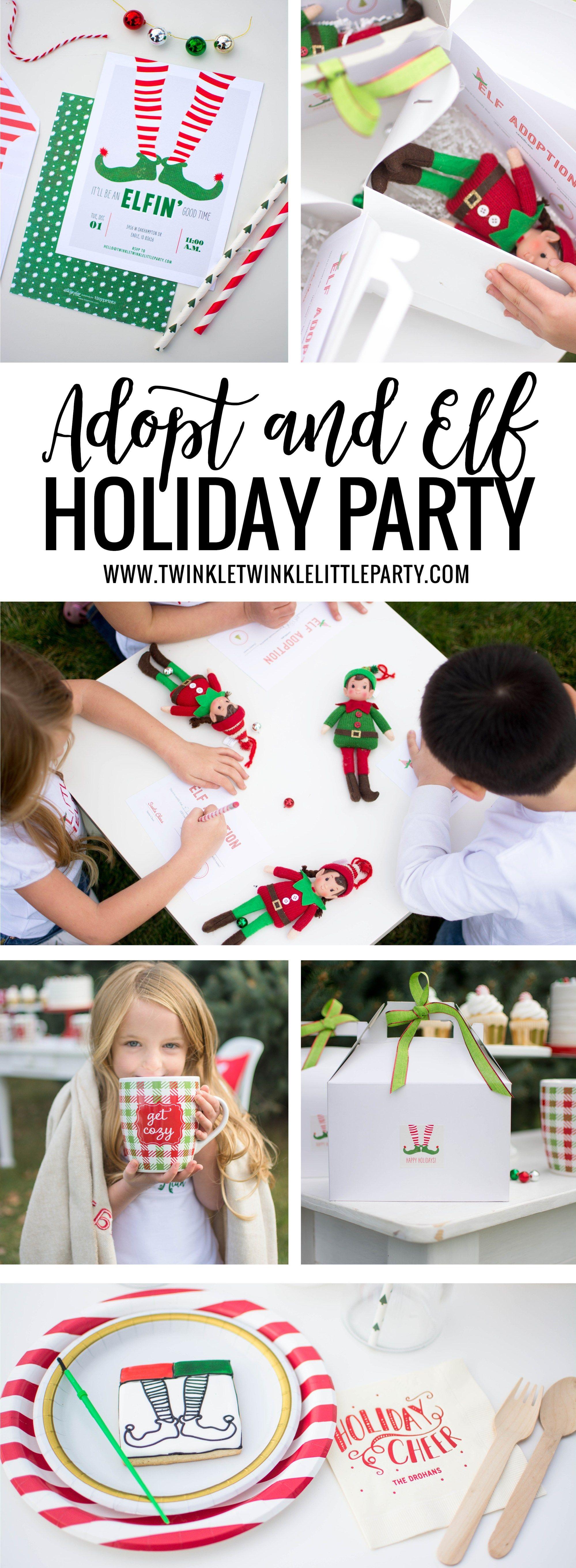 Host an Adopt an Elf on the shelf Party Kids christmas