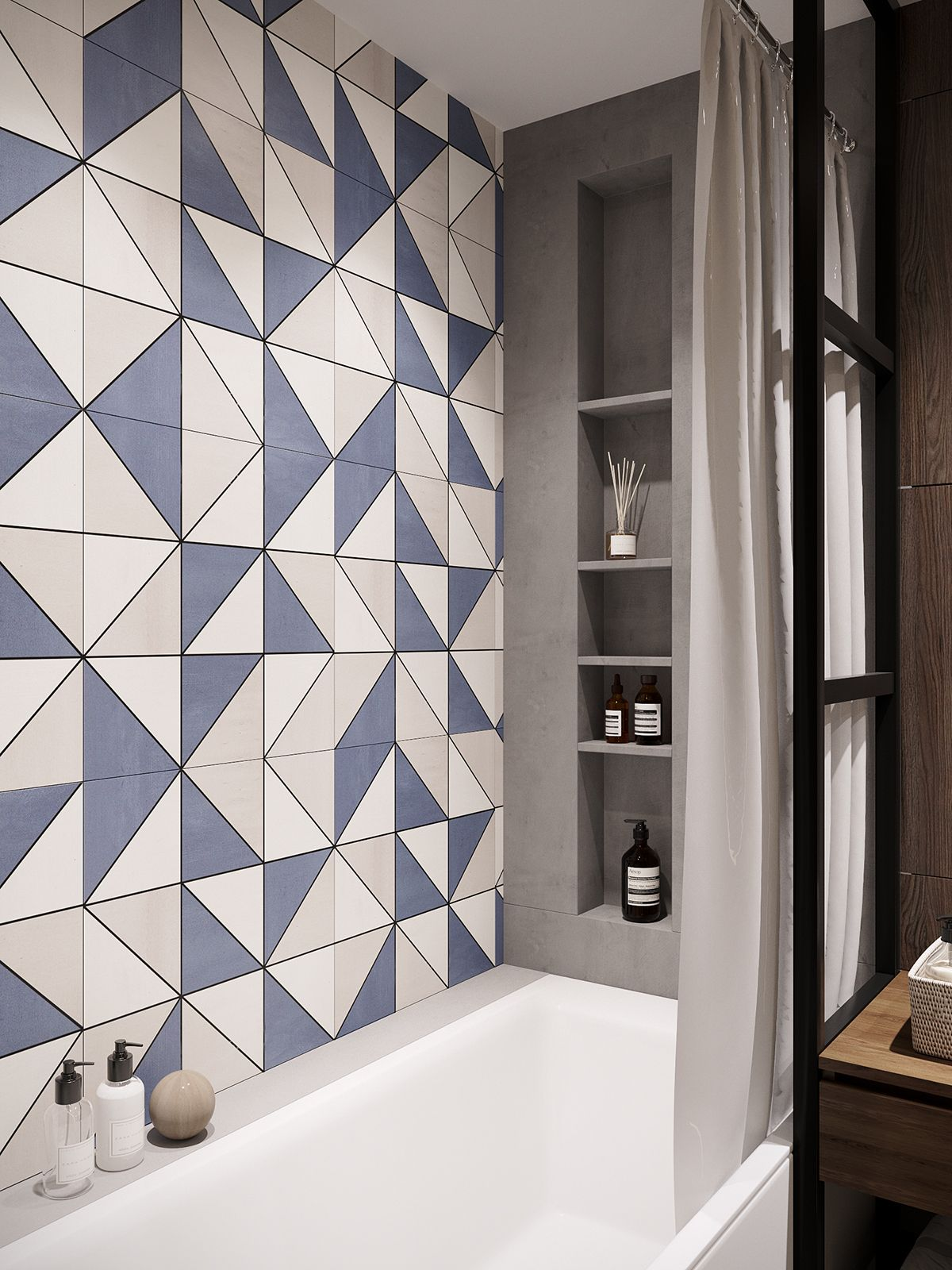 MSK Quarter on Behance | Baños interiores, Diseño de baños