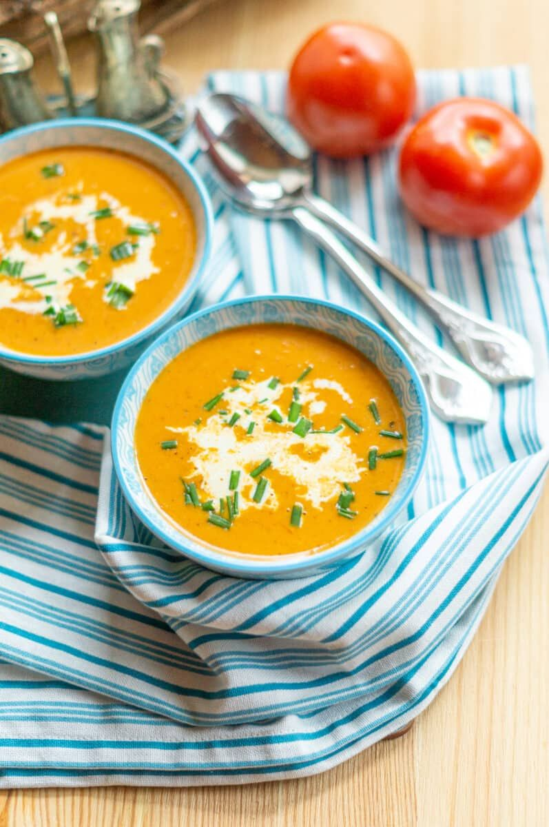 einfache tomatencremesuppe — rezepte