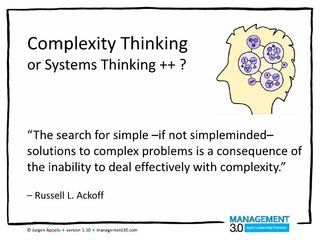 Complexity Thinking by Jurgen Appelo, via Slideshare