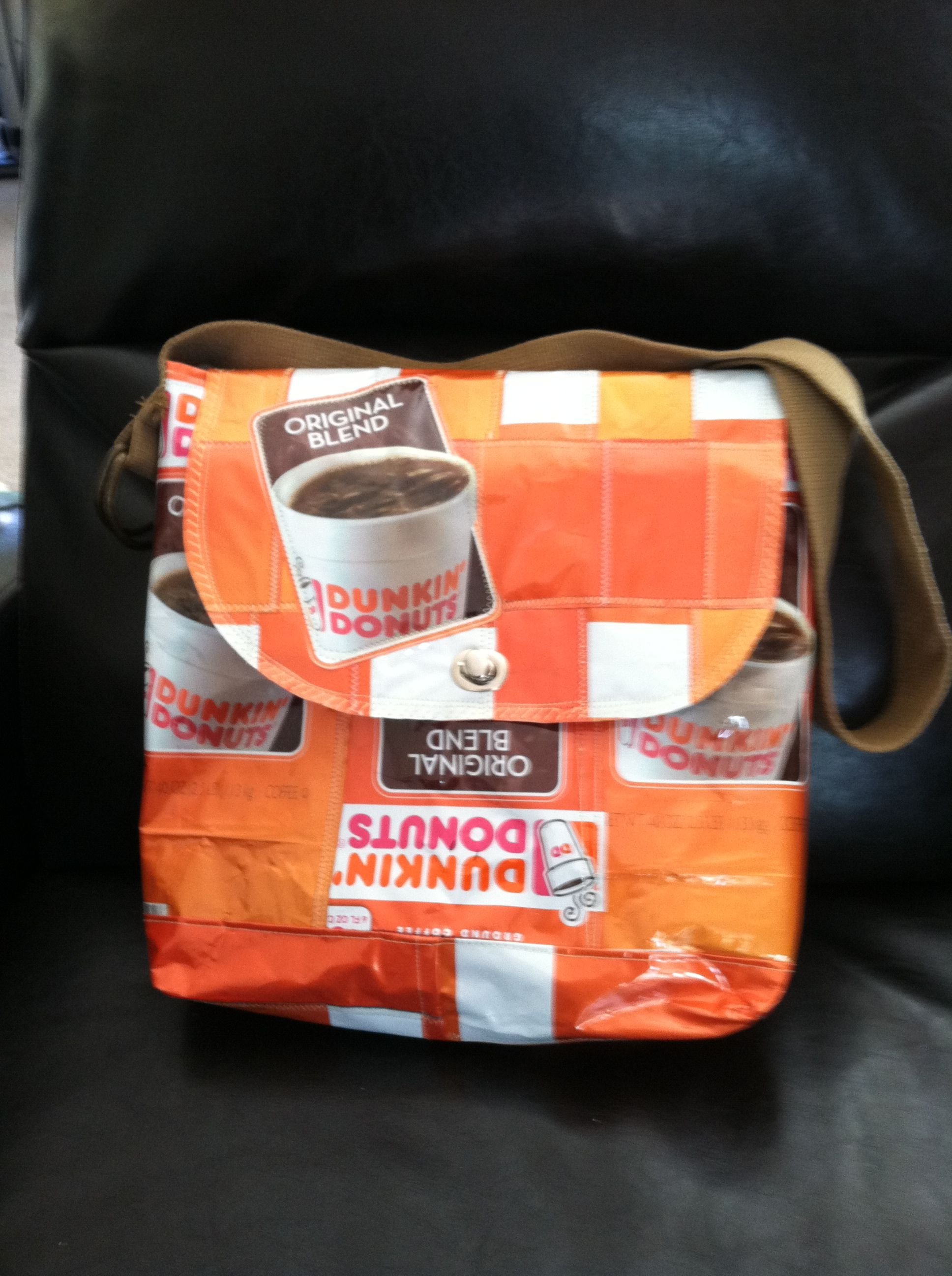 Cool Coffee Purse Made From Recycled Dunkin Donuts Bags All Materials Are  Collected And Sewn