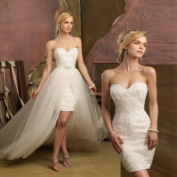 Short White Lace Wedding Dress Google Search