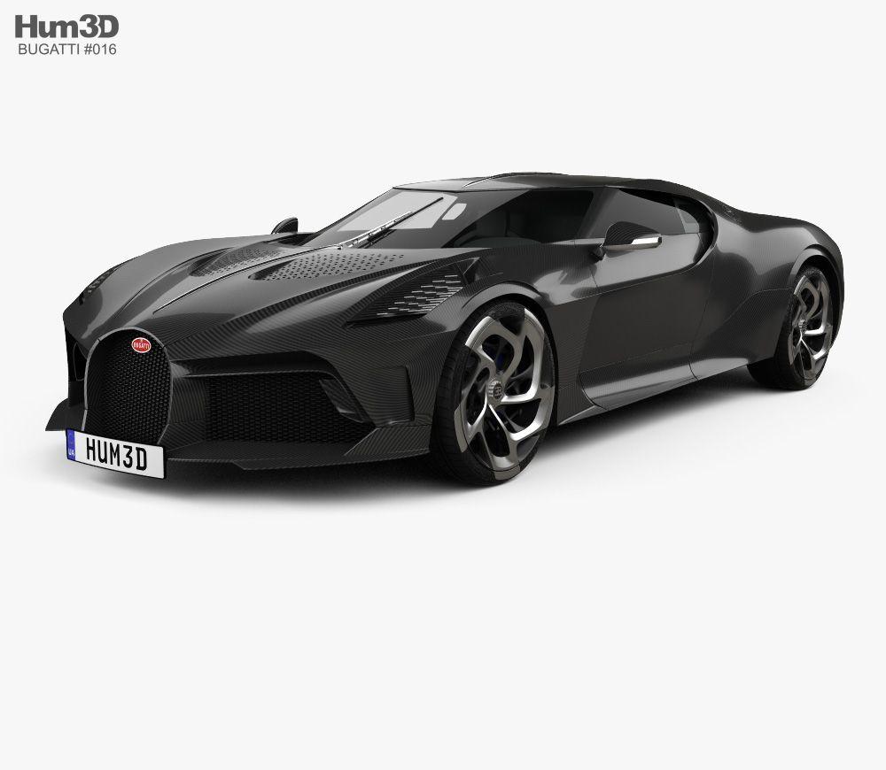 3D Model Of Bugatti La Voiture Noire 2019