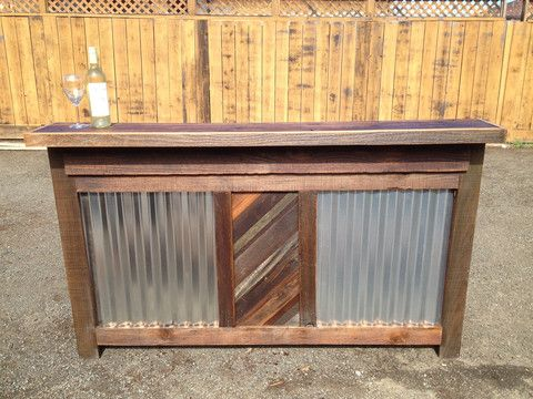 Man Cave Rentals : Rustic reclaimed wood bar rental 6 foot u2013 rentals sf
