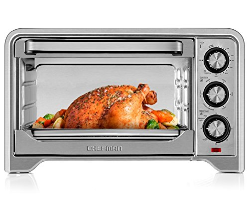 Chefman Toaster Oven Countertop Convection Stainless Steel Oven W