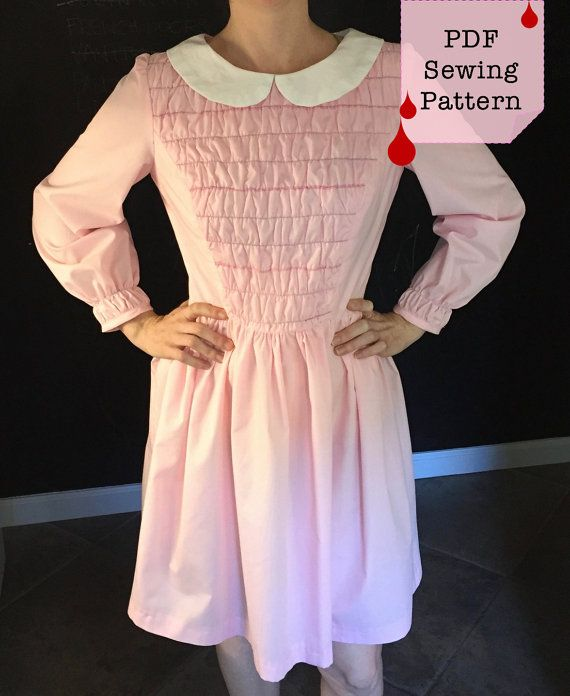 af6278d387 Stranger Things Dress, Eleven, 11, Pattern and Instructions ...