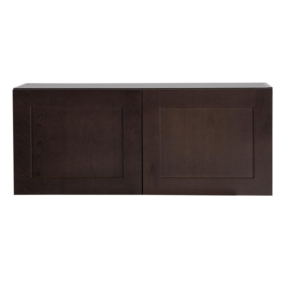 Cabinet Corp Shaker Dusk: Hampton Bay Cambridge Assembled 36x15x12 In. Wall Cabinet