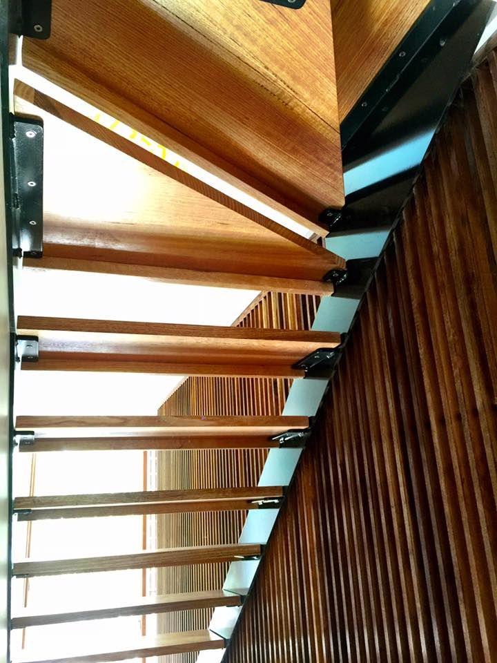 Steel Stair Stringers. Tags: Gloss, Black, Single, Stringer, Timber,