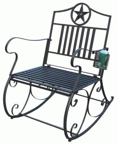 Star Metal Rocking Chair With Cup Holder 23 5 X 30 X 36 Metal