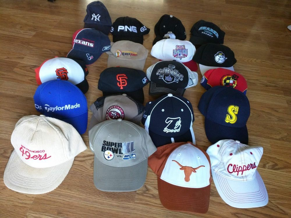 70e139a4fde Lot of 20 Hats for Resellers   Flea Markets   Wholesale - sports NFL   NBA    NHL  fashion  clothing  shoes  accessories  mensaccessories  hats (ebay  link)