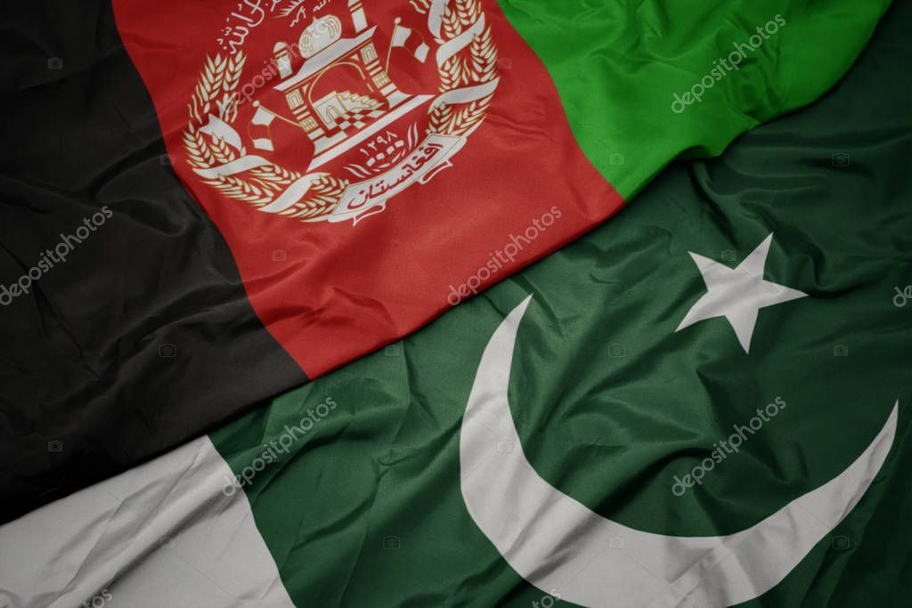 Waving Colorful Flag Of Pakistan And National Flag Of Afghanistan Stoc Ad Flag Colorful Waving Pakis Pakistan Flag Afghanistan Flag National Flag