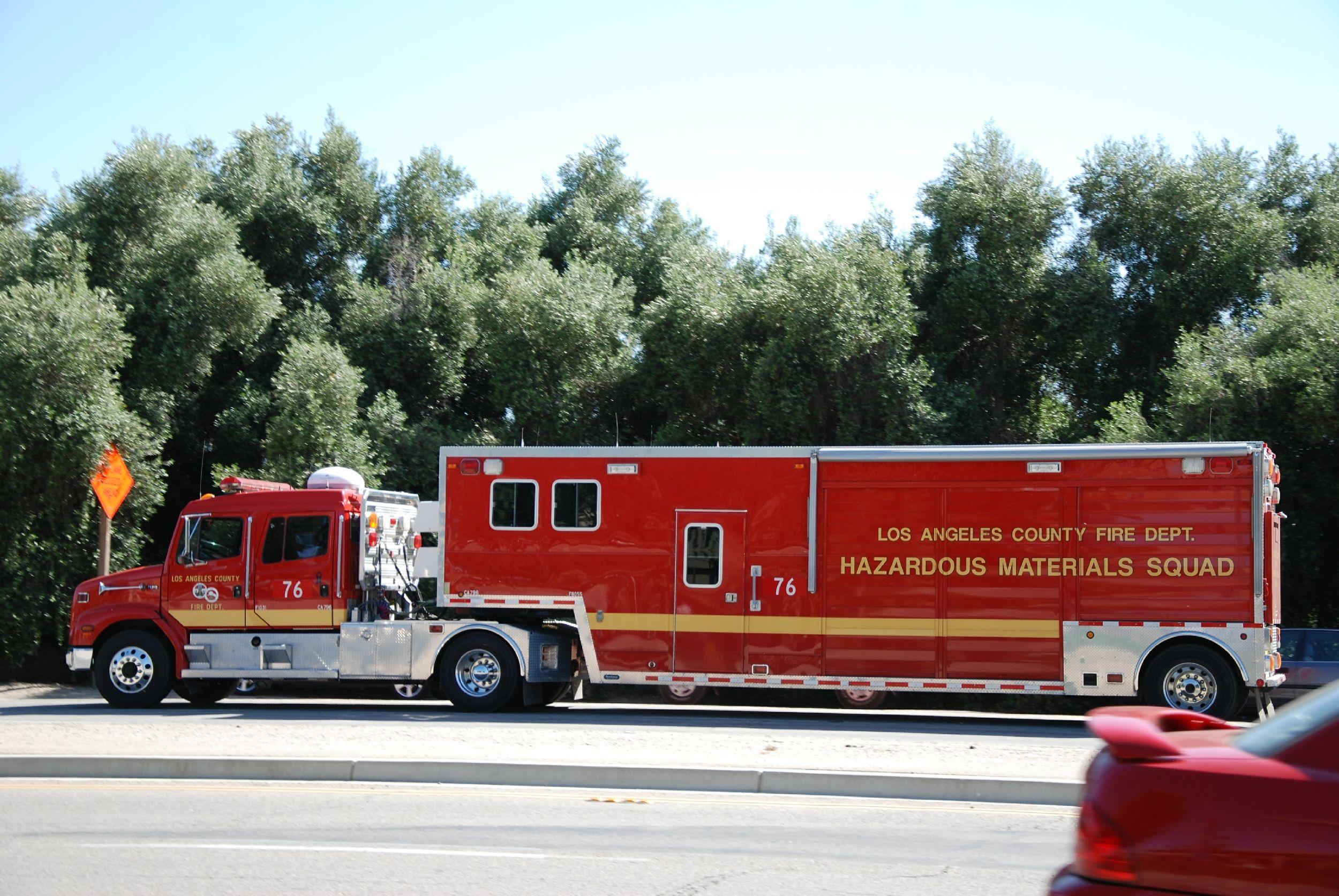 Lacofd Hazmat 76 Hazardous Material Squad La County