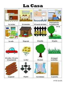 Spanish House Vocabulary Games and Activities - Spanish ...